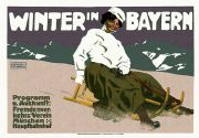 Vintage Winter in Bayern Travel Poster